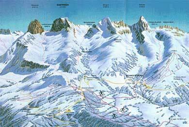 Schwefelberg-Bad Piste / Trail Map