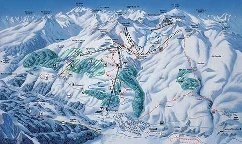 Scuol/Engadin Piste / Trail Map