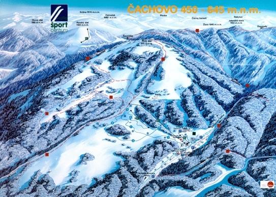 Čachovo - Selce Piste / Trail Map