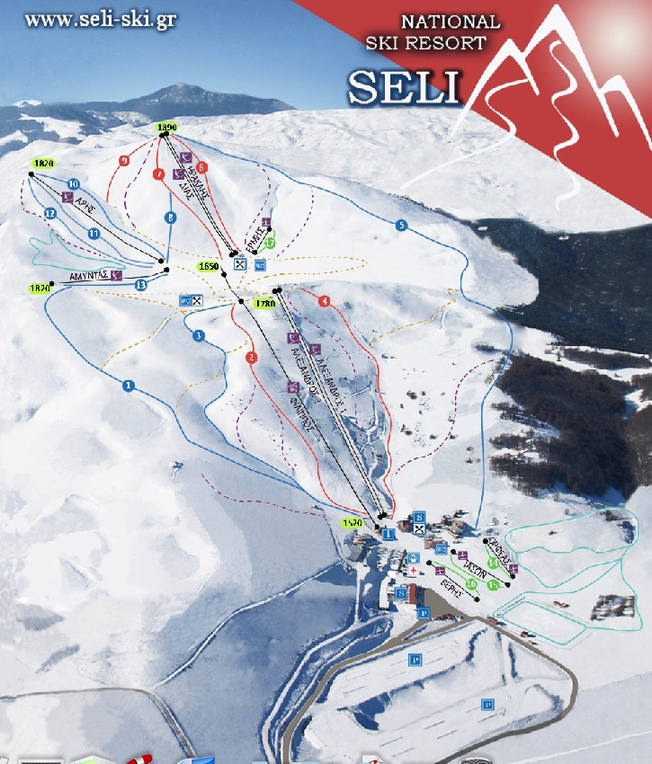 Seli Piste / Trail Map