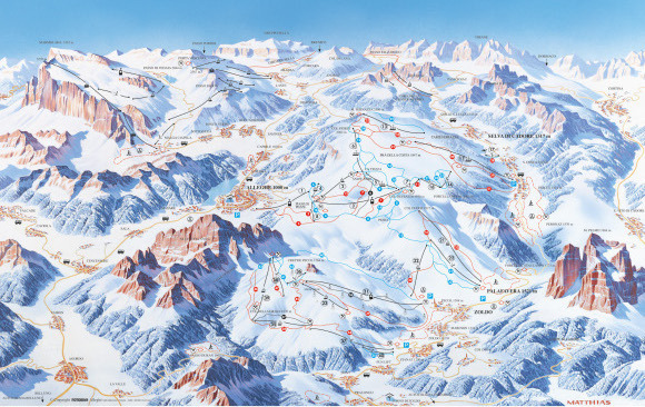 Selva di Cadore Piste / Trail Map