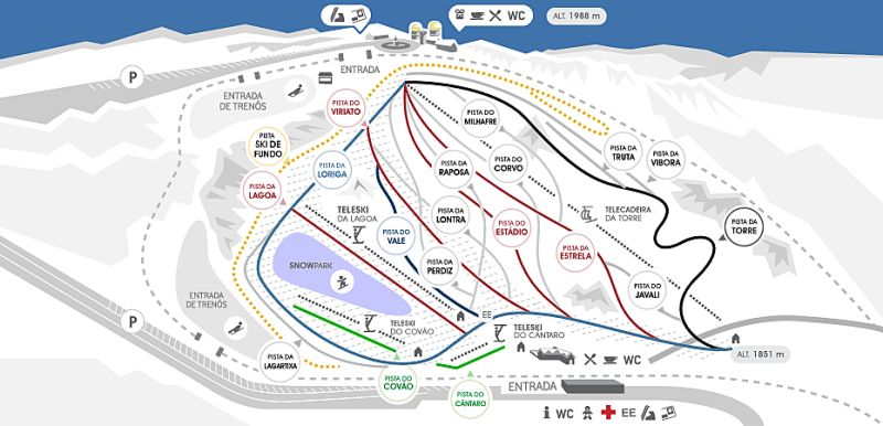 Serra da Estrela Piste / Trail Map
