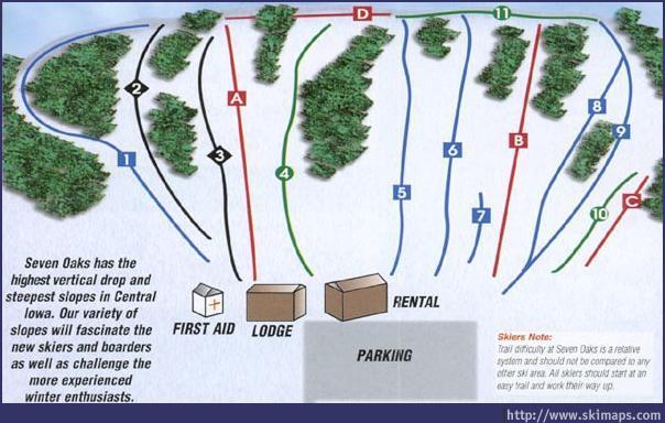 Seven Oaks Piste / Trail Map