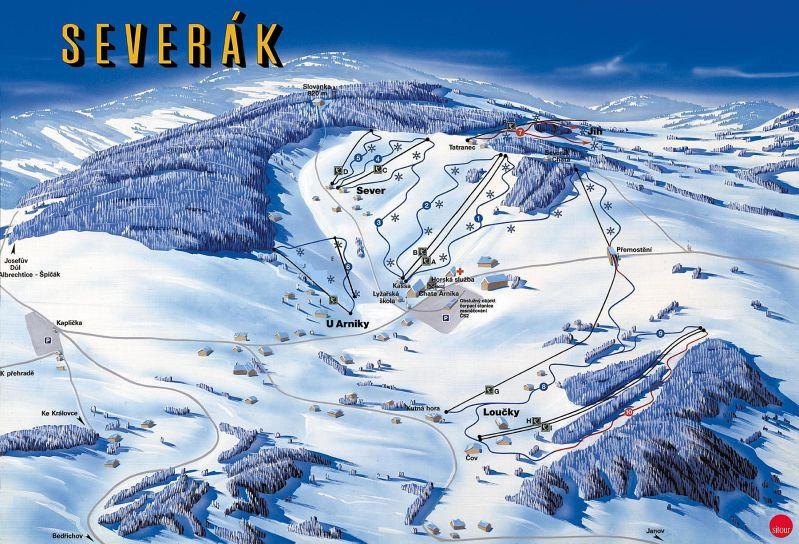 Severák - Hrabětice Piste / Trail Map