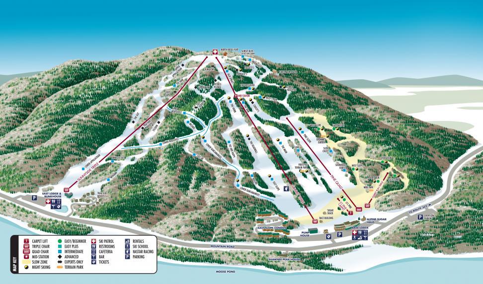 Shawnee Peak Piste / Trail Map