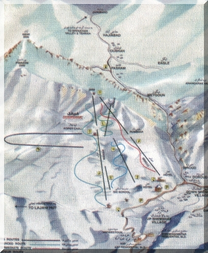 Shemshak Piste / Trail Map