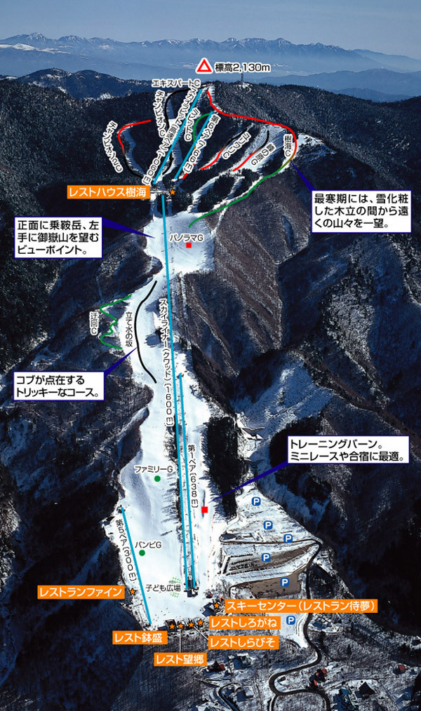 Shinshu Nomugitoge Piste / Trail Map