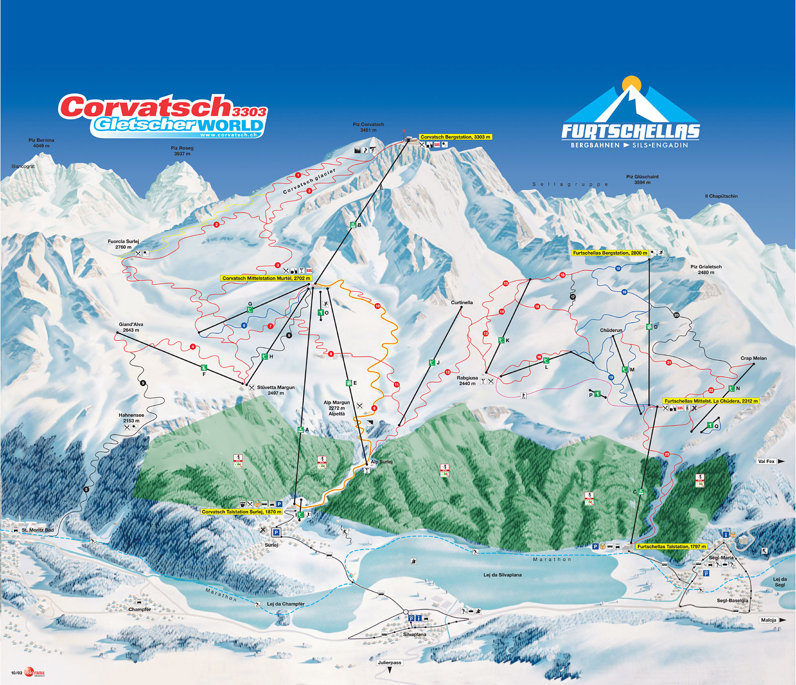 Sils/Engadin Piste / Trail Map