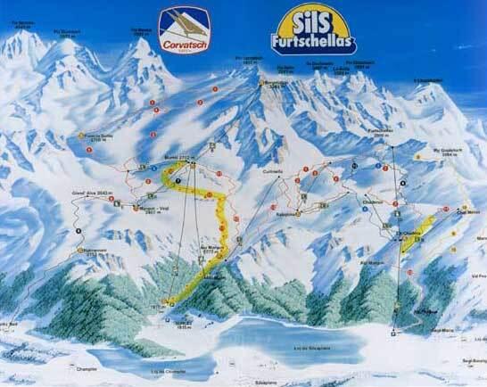 Silvaplana/Engadin Piste / Trail Map