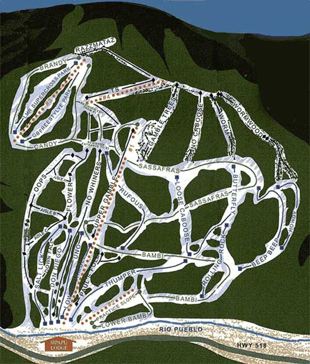 Sipapu Ski And Summer Resort Piste Map Trail Map