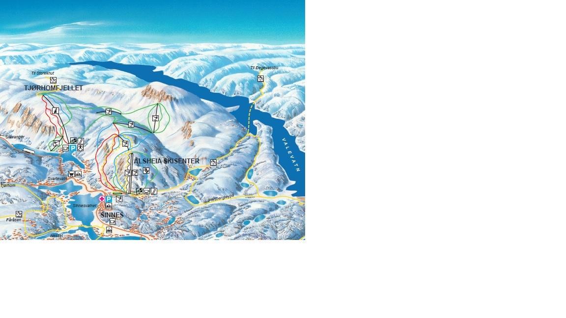 Sirdal Piste / Trail Map