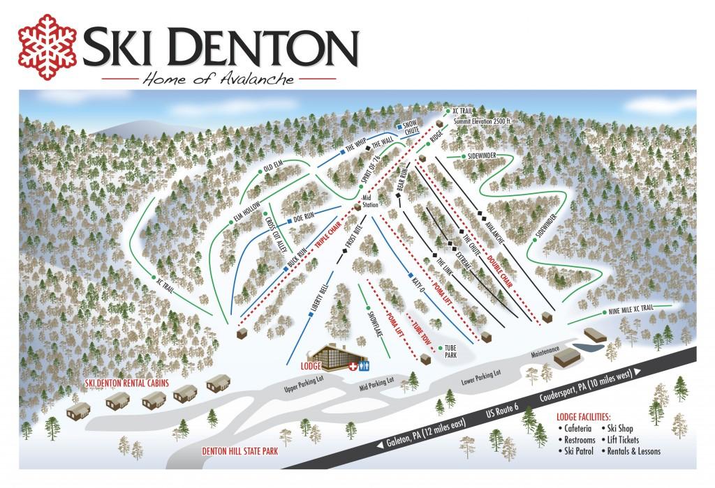Ski Denton Piste / Trail Map