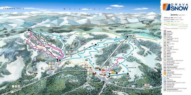 Oravská Lesná Piste / Trail Map