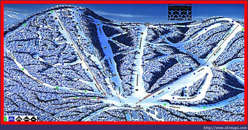 Ski Plattekill Piste / Trail Map