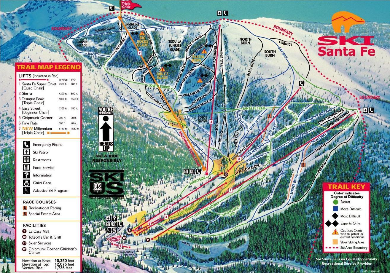 ski santa fe ski resort guide, location map & ski santa fe ski
