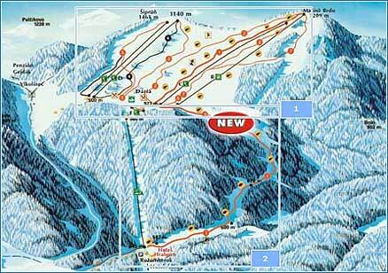 Ružomberok - Malino Brdo Piste / Trail Map
