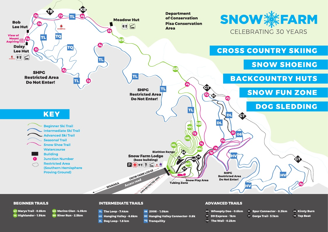 Snow Farm Piste / Trail Map