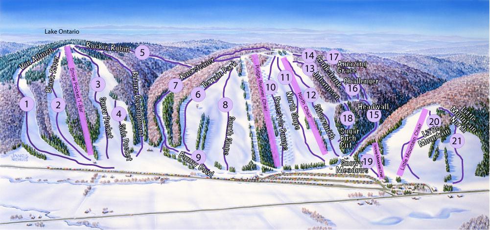 Snow Ridge Piste / Trail Map