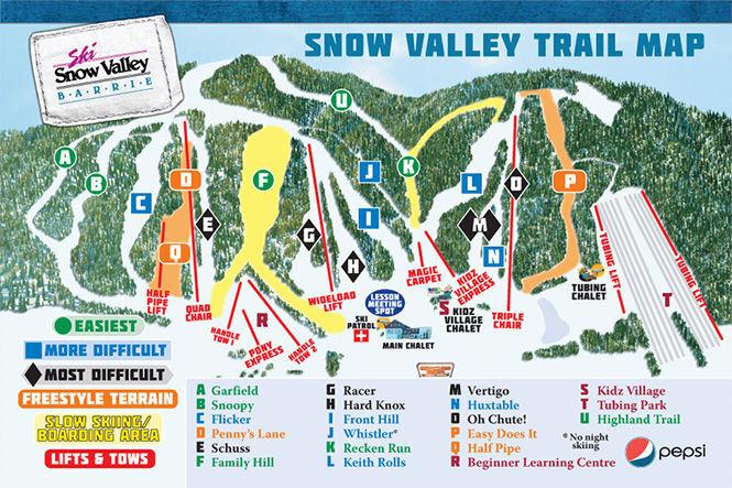 Snow Valley Ski Resort Guide, Location Map & Snow Valley ski
