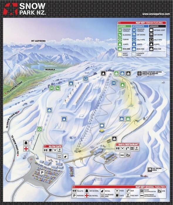 Snow Park Piste / Trail Map