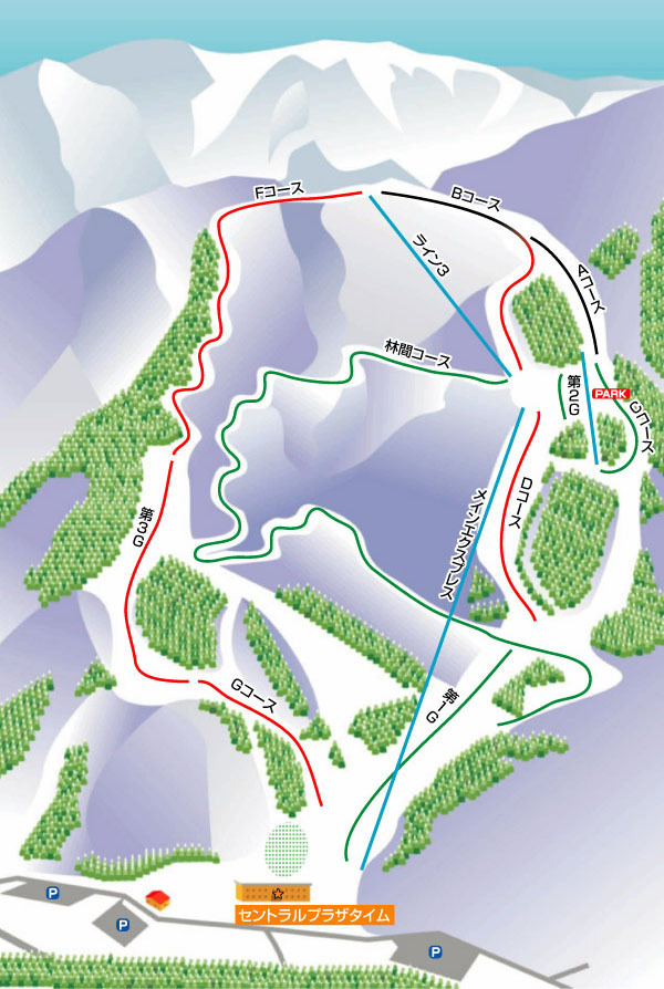 Snow Valley Toga Piste / Trail Map