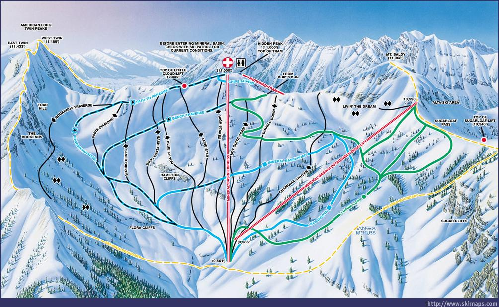 Snowbird Piste / Trail Map