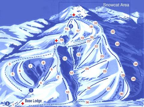 Soldier Mountain Piste / Trail Map