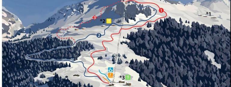 Sonntag-Stein Piste / Trail Map