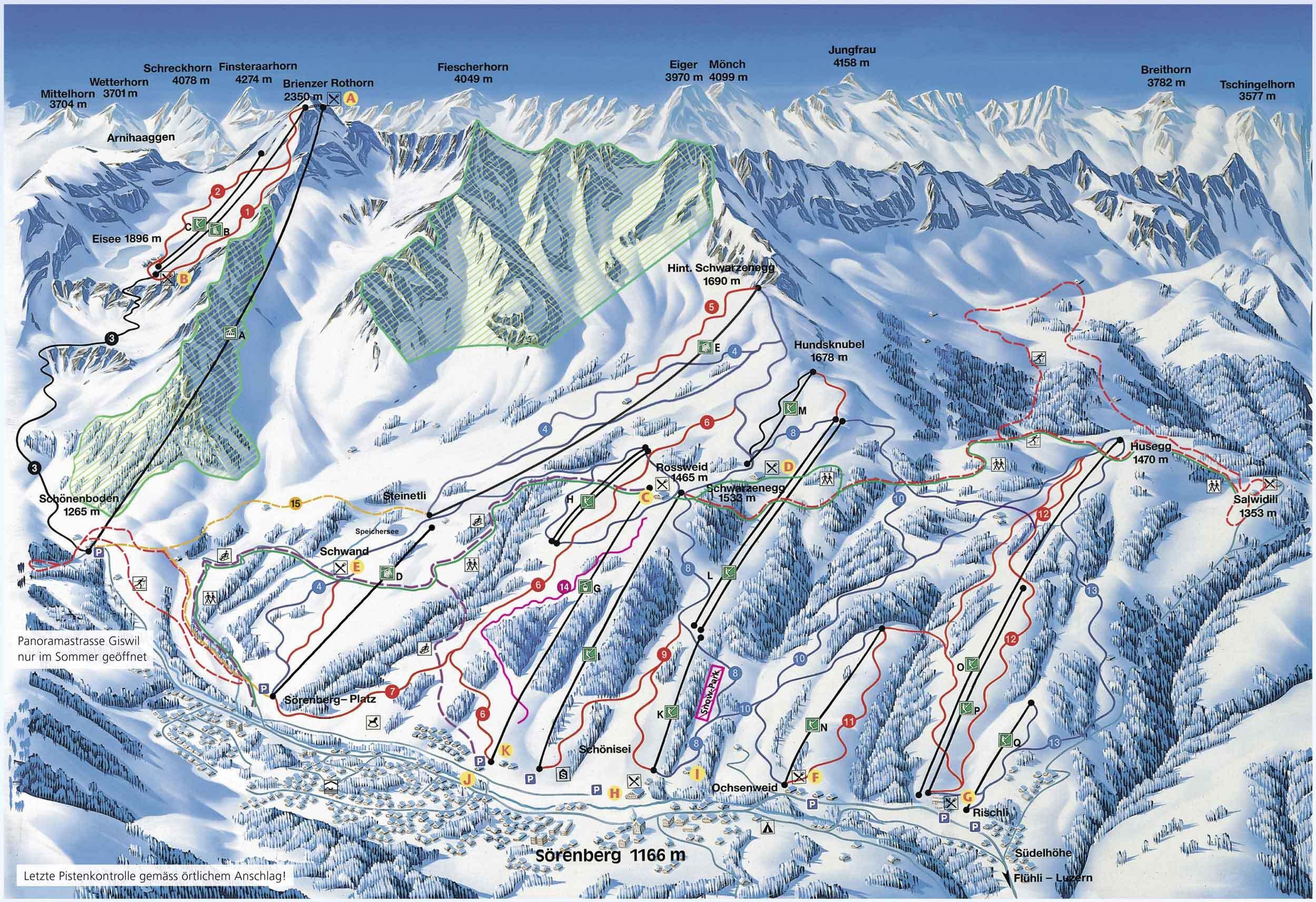 Sörenberg Piste / Trail Map