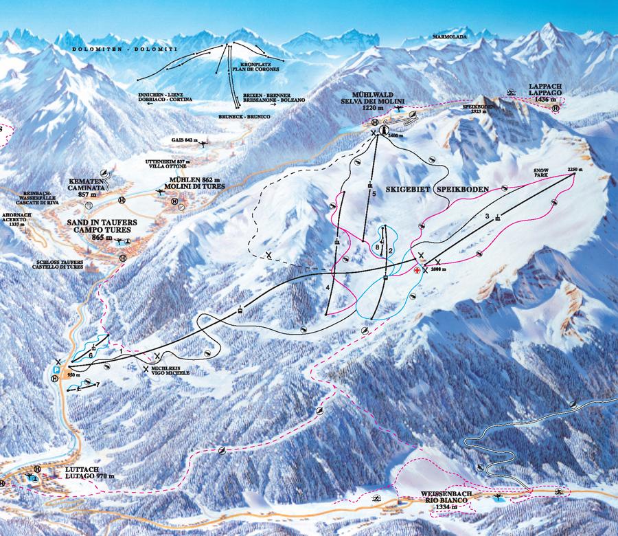 Speikboden Piste / Trail Map
