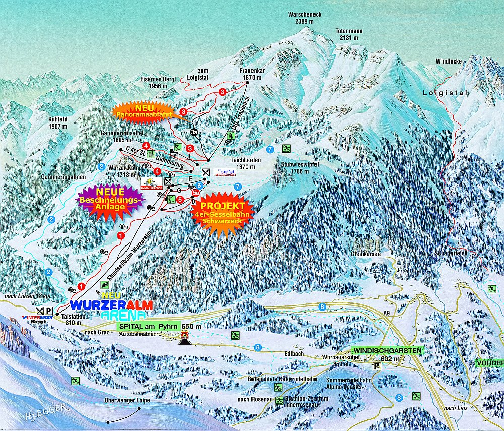 Spital am Pyhrn Piste / Trail Map