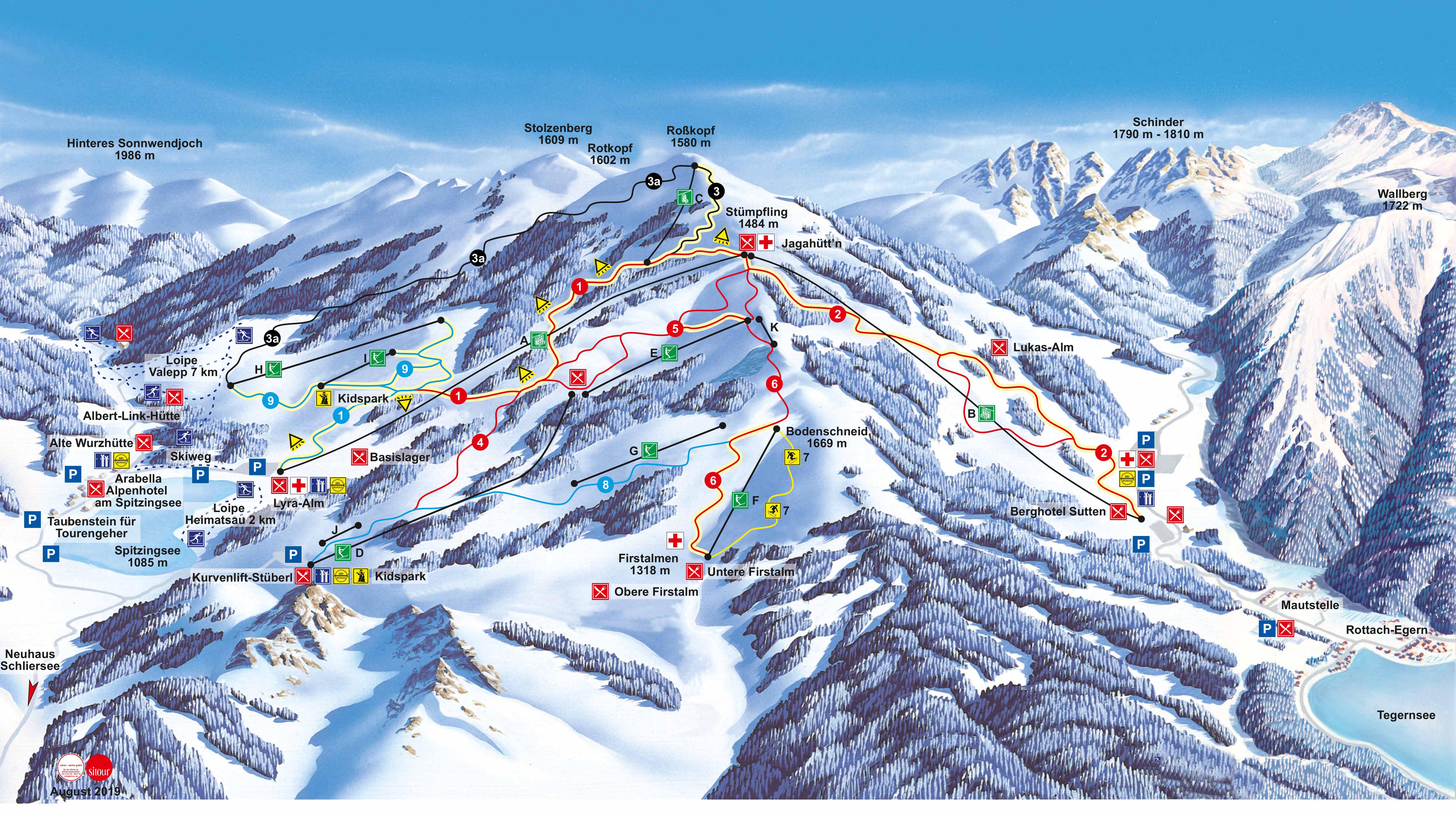 Spitzingsee Piste / Trail Map