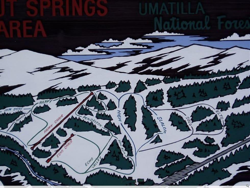 Spout Springs Piste / Trail Map