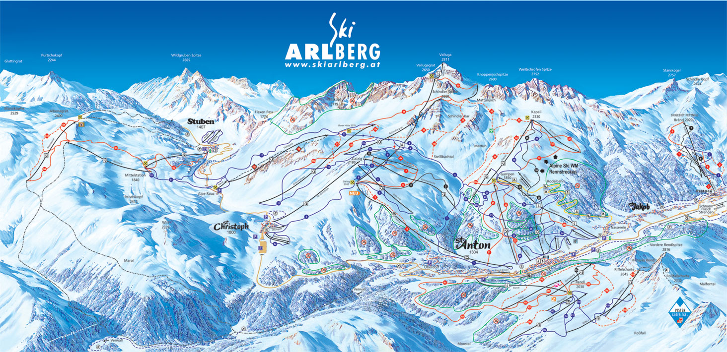 St. Christoph Piste / Trail Map