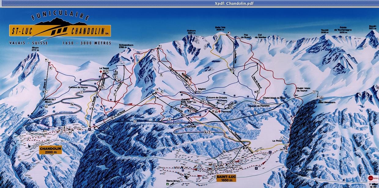 St-Luc Piste / Trail Map
