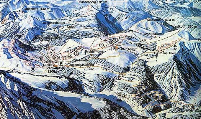 St Wolfgang Piste / Trail Map