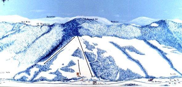 Stebnícka Huta Piste / Trail Map
