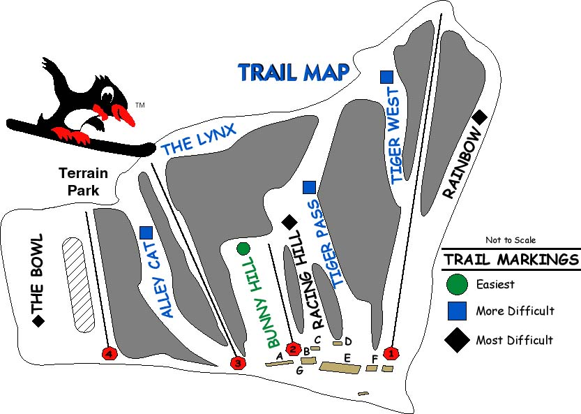 Sterling Forest Ski Center Piste / Trail Map