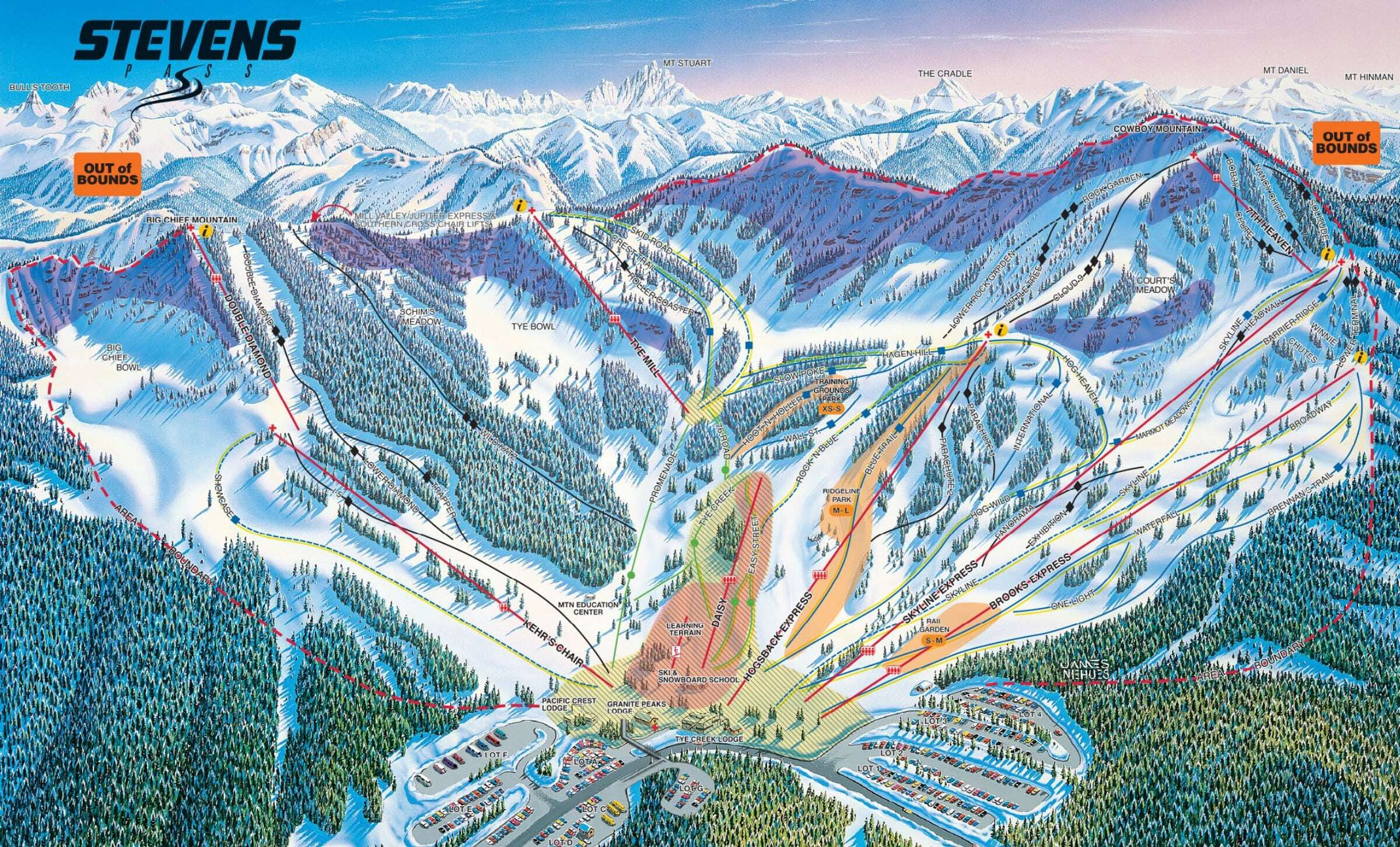 Stevens Pass Ski Resort Guide Location Map Stevens Pass Ski
