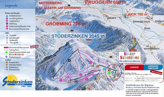 Stoderzinken Piste / Trail Map