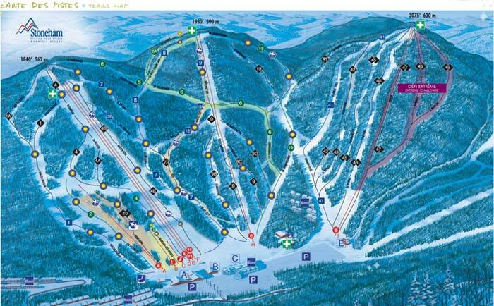 Stoneham Mountain Resort Piste / Trail Map