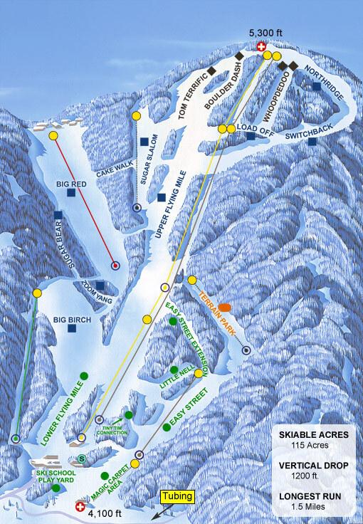 Sugar Mountain Piste / Trail Map