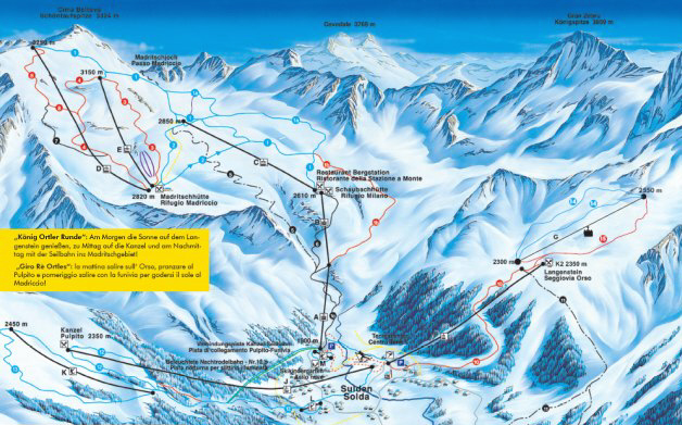 Sulden Piste / Trail Map