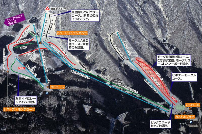 Sun Alpina Hakuba Sanosaka Piste / Trail Map