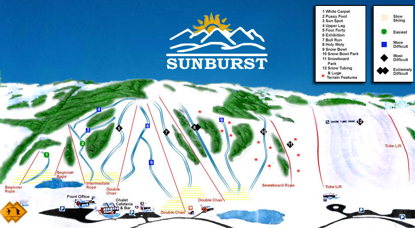 Sunburst Piste / Trail Map
