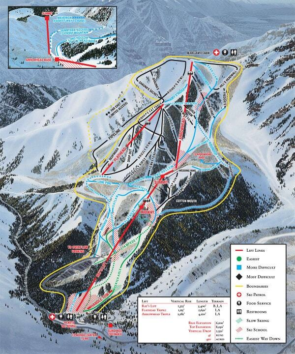 Sundance Piste / Trail Map
