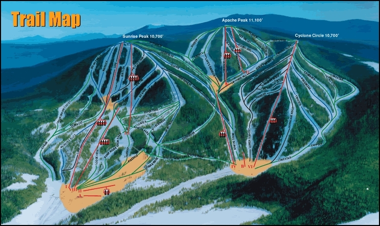 Sunrise Park Resort Piste / Trail Map