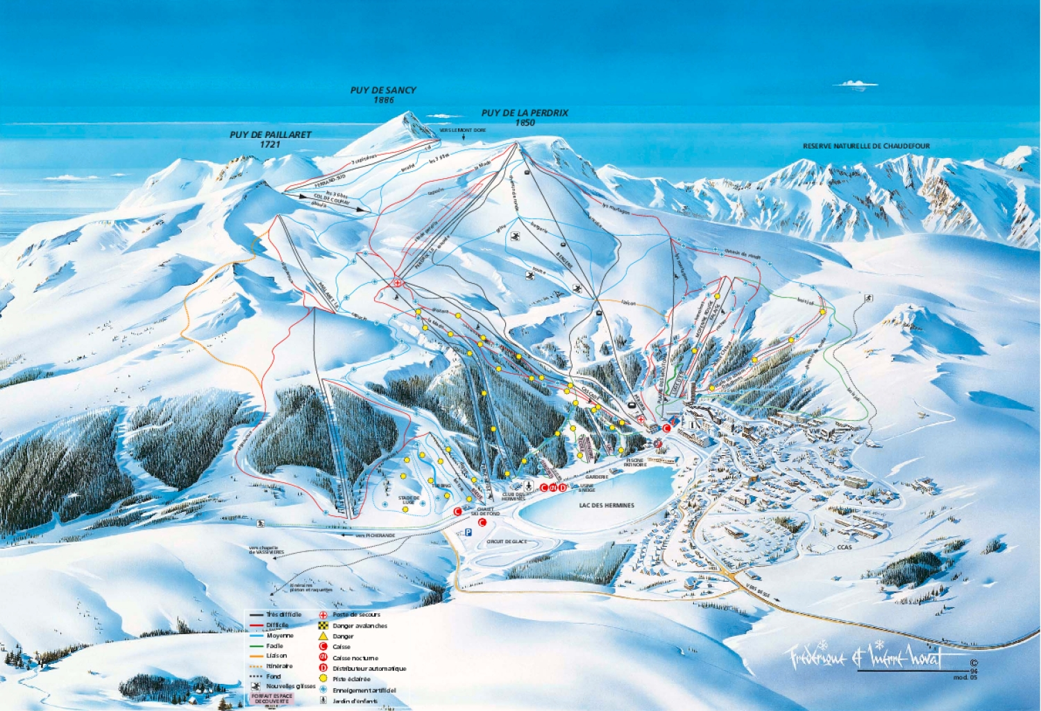 Besse Super Besse Piste / Trail Map