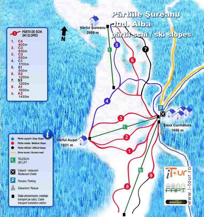Sureanu Piste Map Trail Map