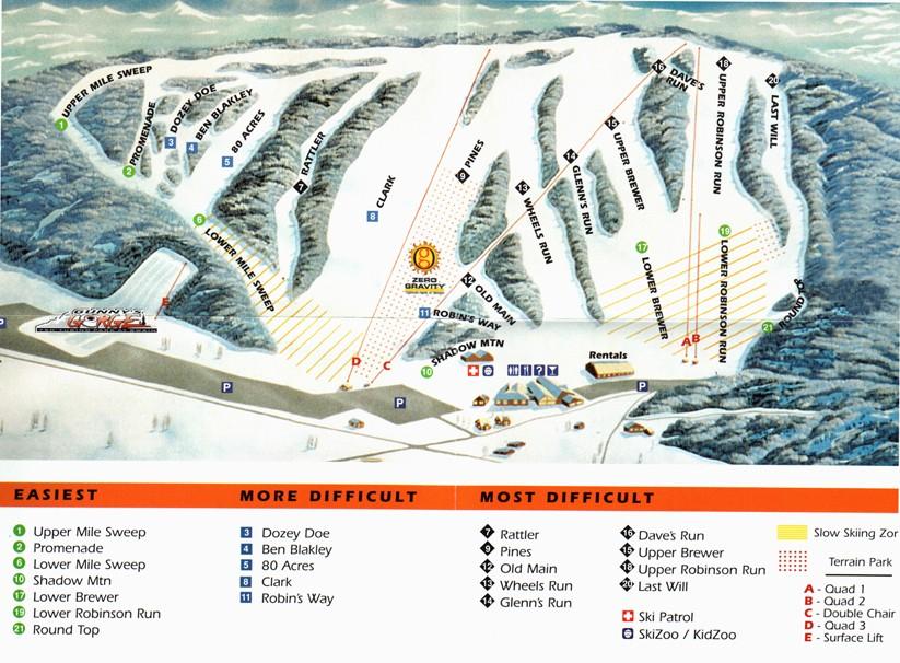 Swain Piste / Trail Map